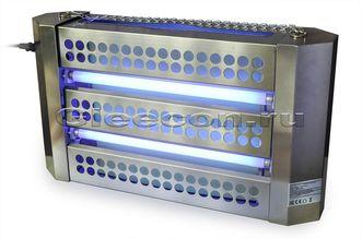 Лампа инсектицидная GLEECON H60 (s 300 м2) нерж. сталь, безосколочные лампы, клеевой лист
